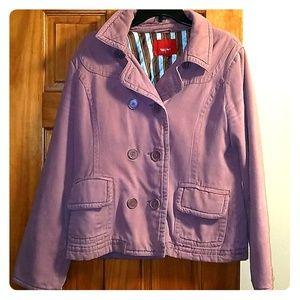 Mauve Pink Peacoat Fall Jacket